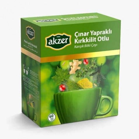 Akzer Çınar Yapraklı  Kırkkilit Otlu Çay