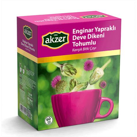 Akzer Enginarlı Deve Dikeni Tohumlu Çay