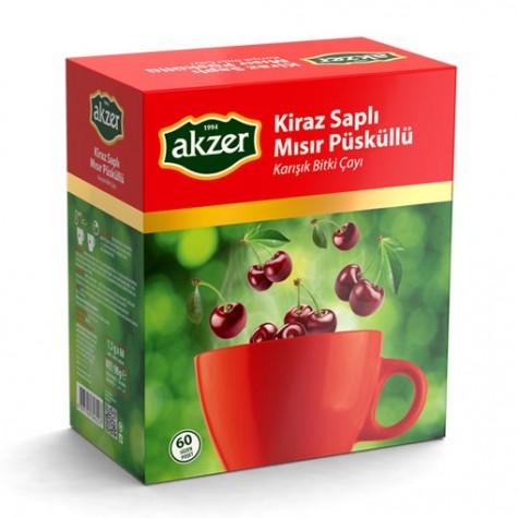 Akzer Kiraz Saplı & Mısır Püsküllü Çay