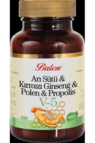 Kırmızı Ginseng Arı sütü polen kapsül